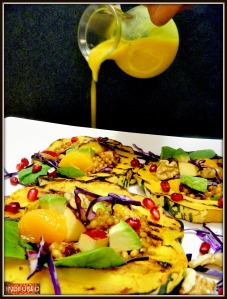 Indian spice infused citrusy salad dressing