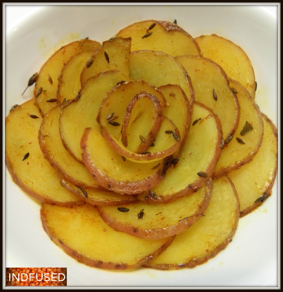 Scalloped Red Potato Subji Rosette
