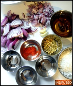 Ingredients for the curry