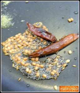 Tempering of the spices