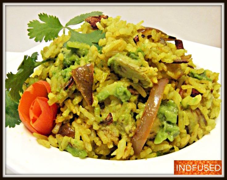 Avocado and Caramelized Onion Rice