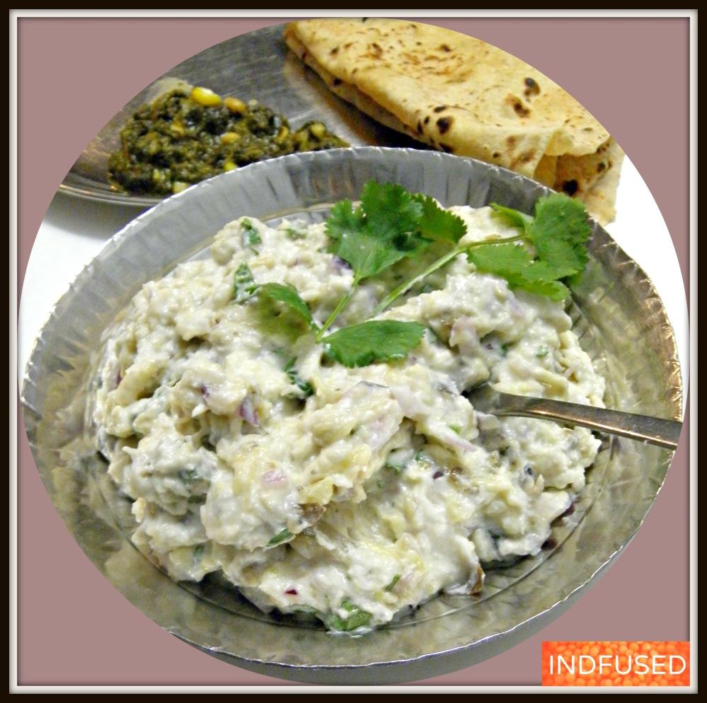 Figure friendly, 7 ingredient Eggplant Bhareet