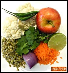 Veggies and fruit I used