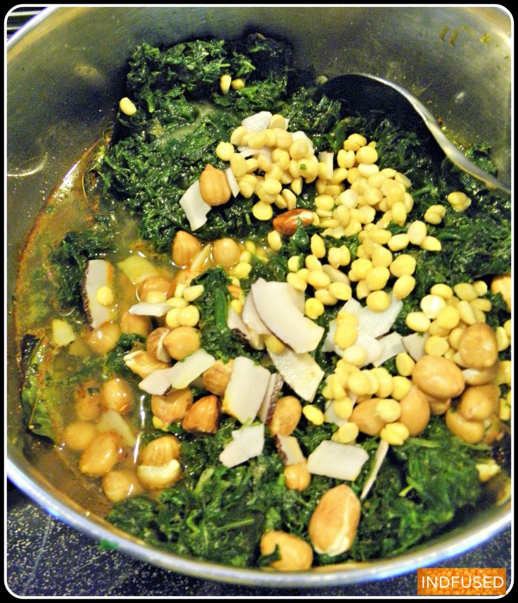 Instant Pot recipe for a popular vegetarian, Traditional Indian entree Palakchi Bhaji- A Maharashtrian heirloom recipe in IP