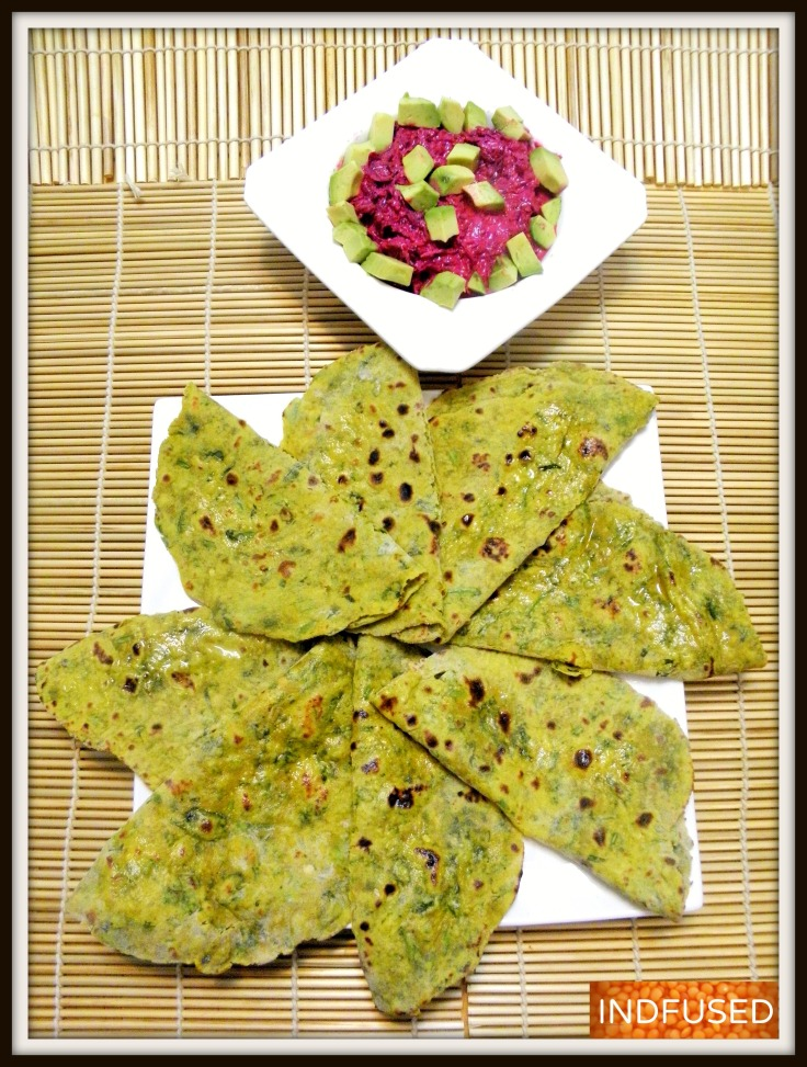 Easy Indian recipe for luscious and nutritious parathas using  protein rich dal