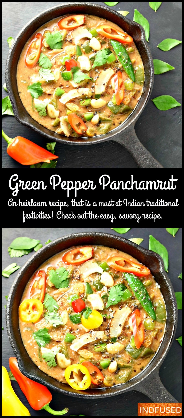 Green Pepper Panchamrut- a traditional savory dish which is a must for Indian festivities