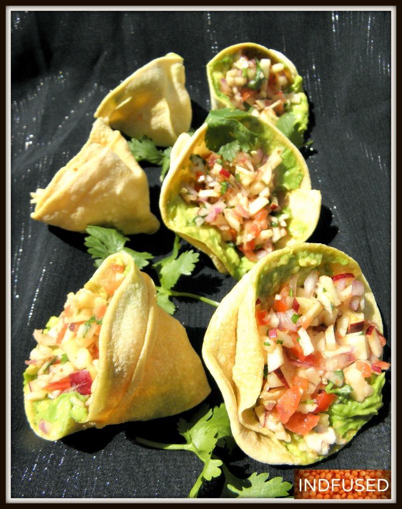 Masala Papad salad Cones !!
