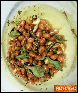 Roasted spices and peanuts