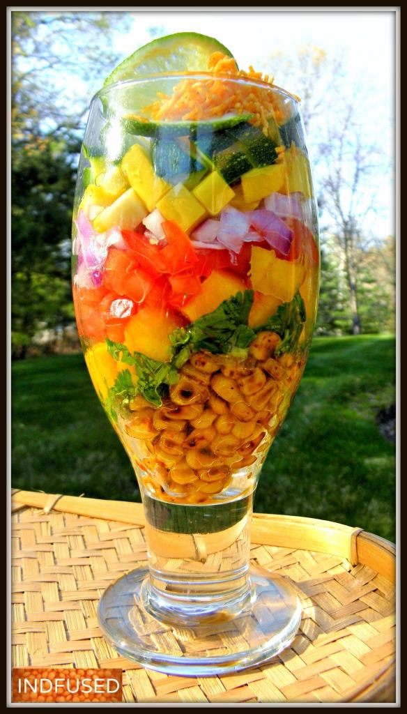 Corn Bhel Salad- Perfect for the season!