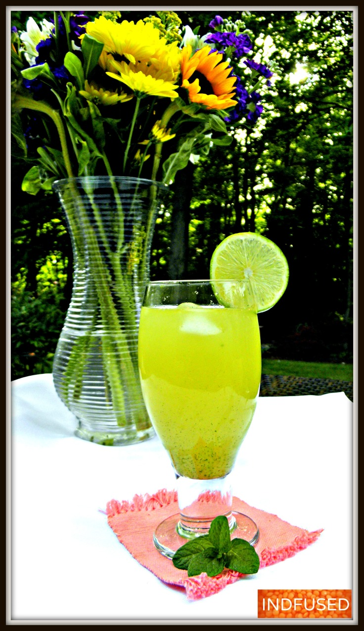 Mirchina- easy recipe for muddled mocktail with honey,ginger, chili peppers and lemon serves as an appertif or digestive