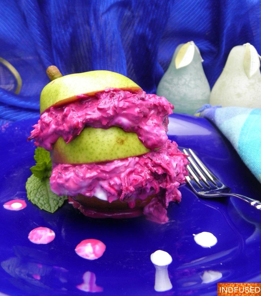 Beetroot and Pear Koshimbir
