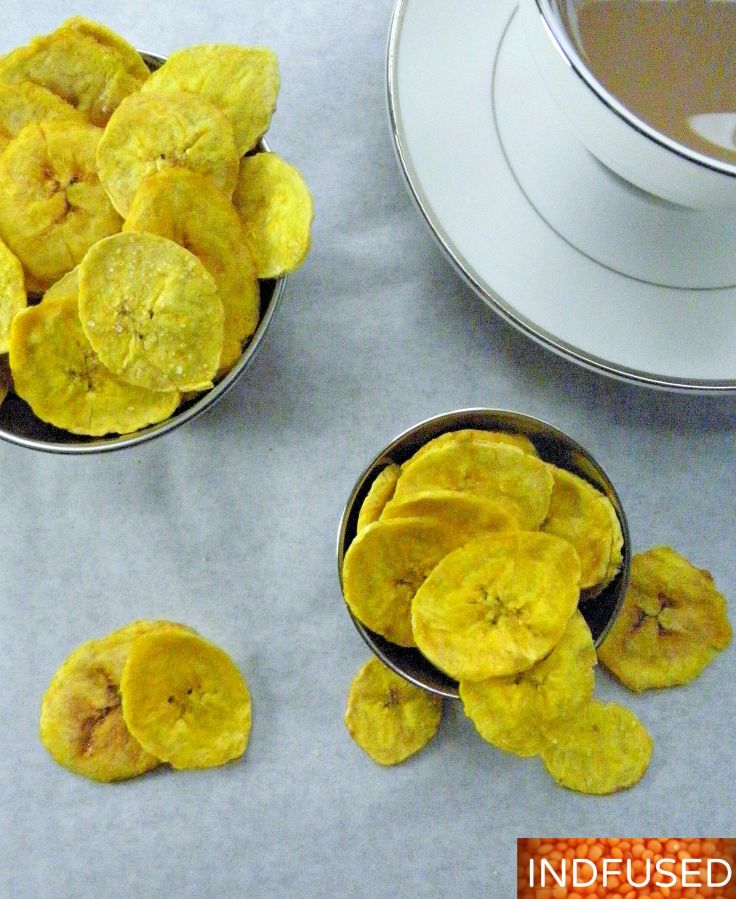 #low calorie #Indian #snack known as #kela wafers are easy to make with just #4 ingredients and in 5 minutes. Uses #turmeric and #coconut oil
