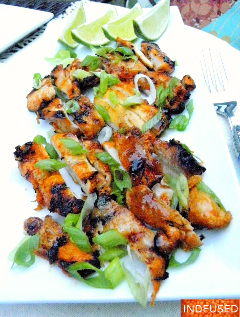 #Indian #fusion #recipe for #succulent #grilled #chicken, # quick and easy #4 ingredient marinade #recipe!