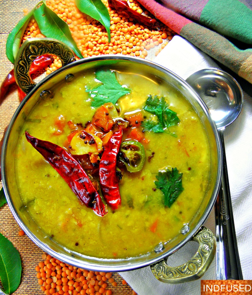 #Protein rich, #gluten free #tadka #dal #recipe with a #vegan option served with #fragrant #Basmati #Rice and #crunch #apple #pickle is truly a #treat in the #fall #weather