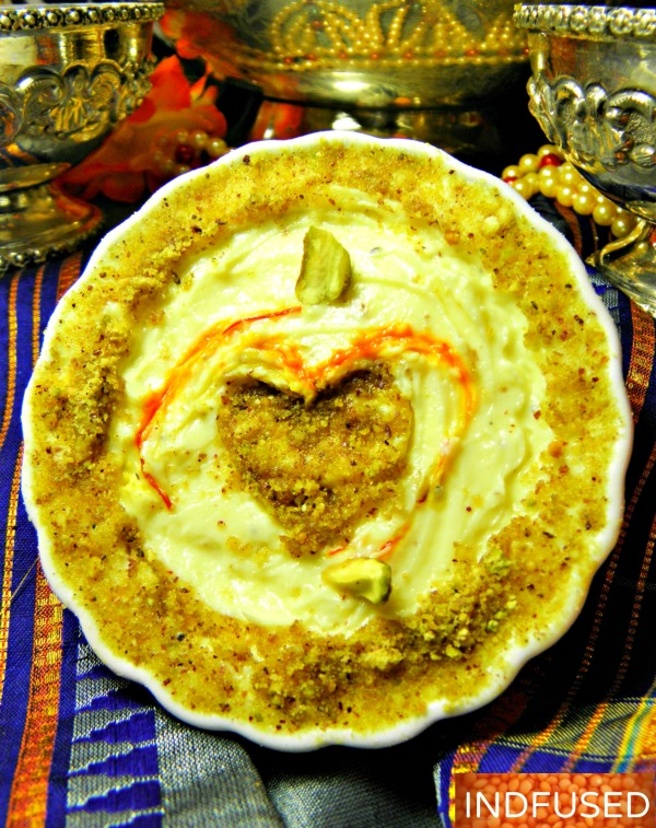 #Traditional #Indian #sweet served with #puris on #festivals such as #Dussera, now can be made in under #30 minutes# vegetarian, #low fat, #glutenfree #recipe with #saffron, #cardamom and #pistachio nuts