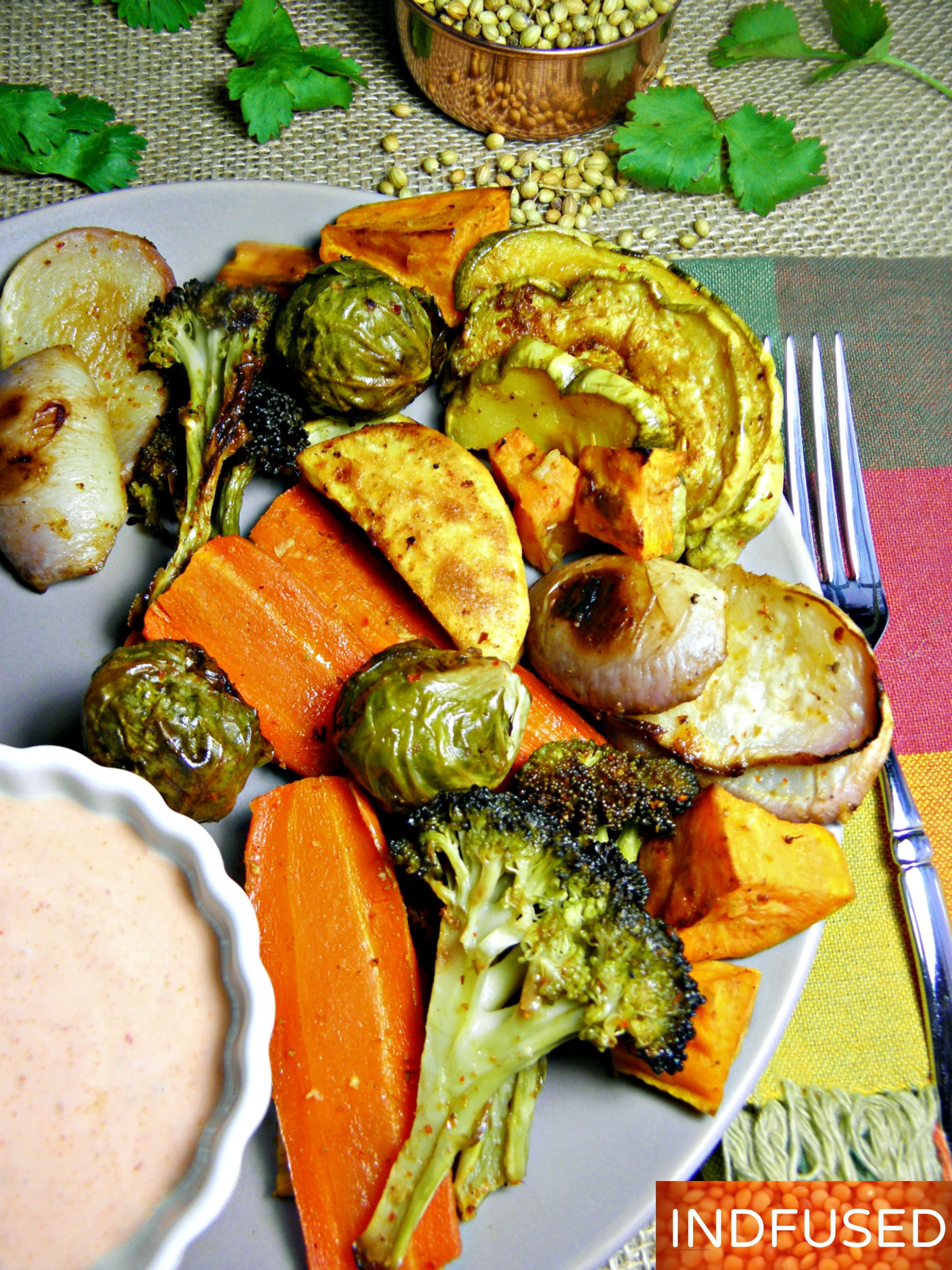 Roasted vegetables with garam masala indian and indian fusion oven roasted vegetables and root vegetablesspiced with indian roasted vegetables with garam masala forumfinder Images