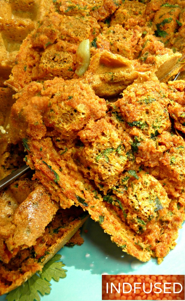#Favorite #savory #Indian #snack for #teatime.#Gluten free#vegan#figure friendly #recipe using #misto oil spray and #Belgian #waffle #iron