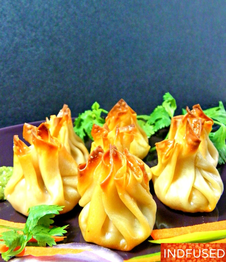 #Baked #bite- size #Indian #appetizers #samosas made with #Nasoya #wonton #wrappers