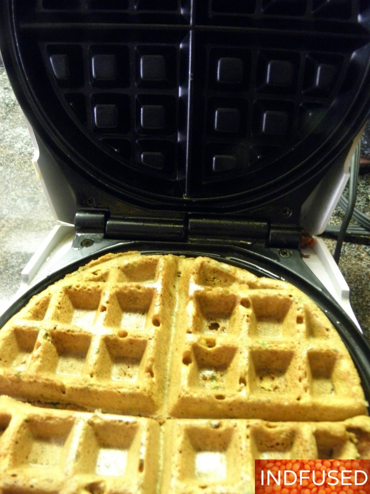 #Favorite #savory #Indian #snack for #teatime.#Gluten free#vegan#figure friendly #recipe using #misto oil spray and #Belgian #waffle #iron