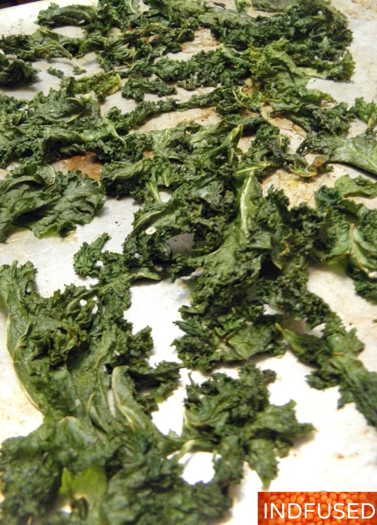 Baked Masala Kale Chips are ready!