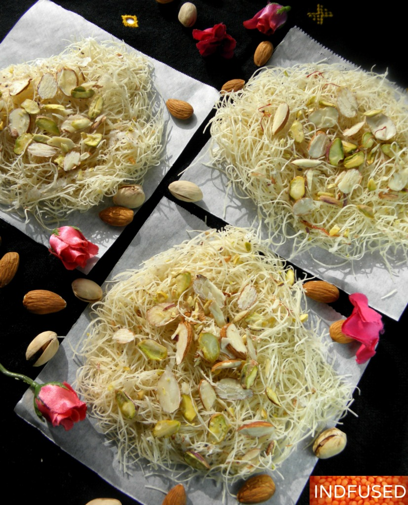 #Diwali #sweets-#easy #recipe for #Sutarfeni #Baked ,#figure friendly version!
