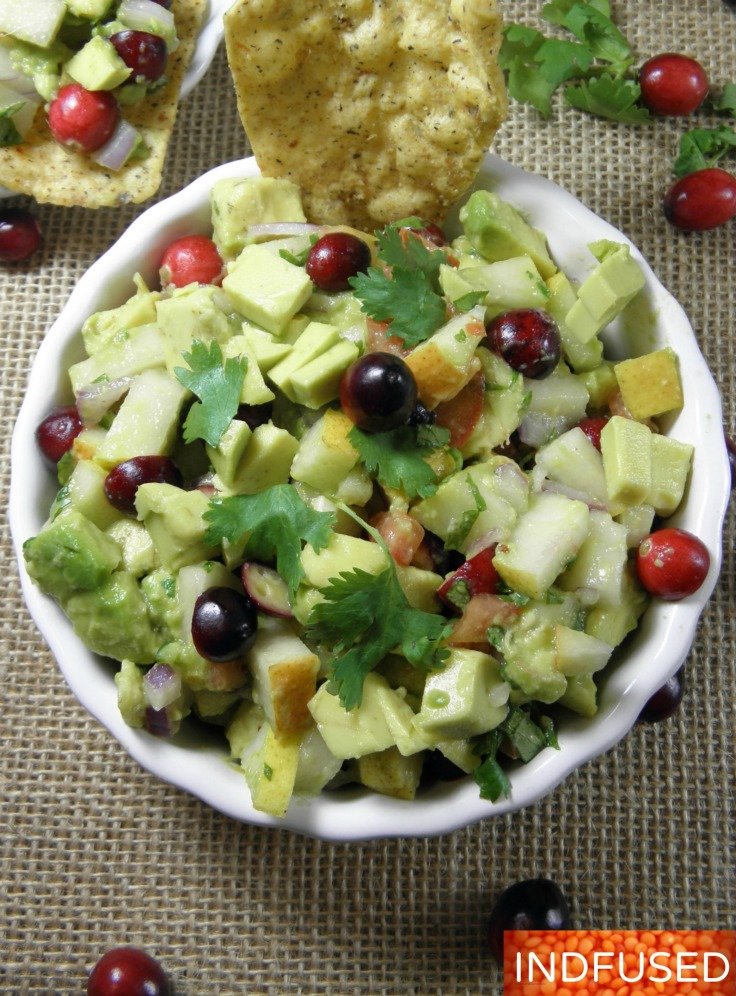 Cranberry Avocado and Pear Relish