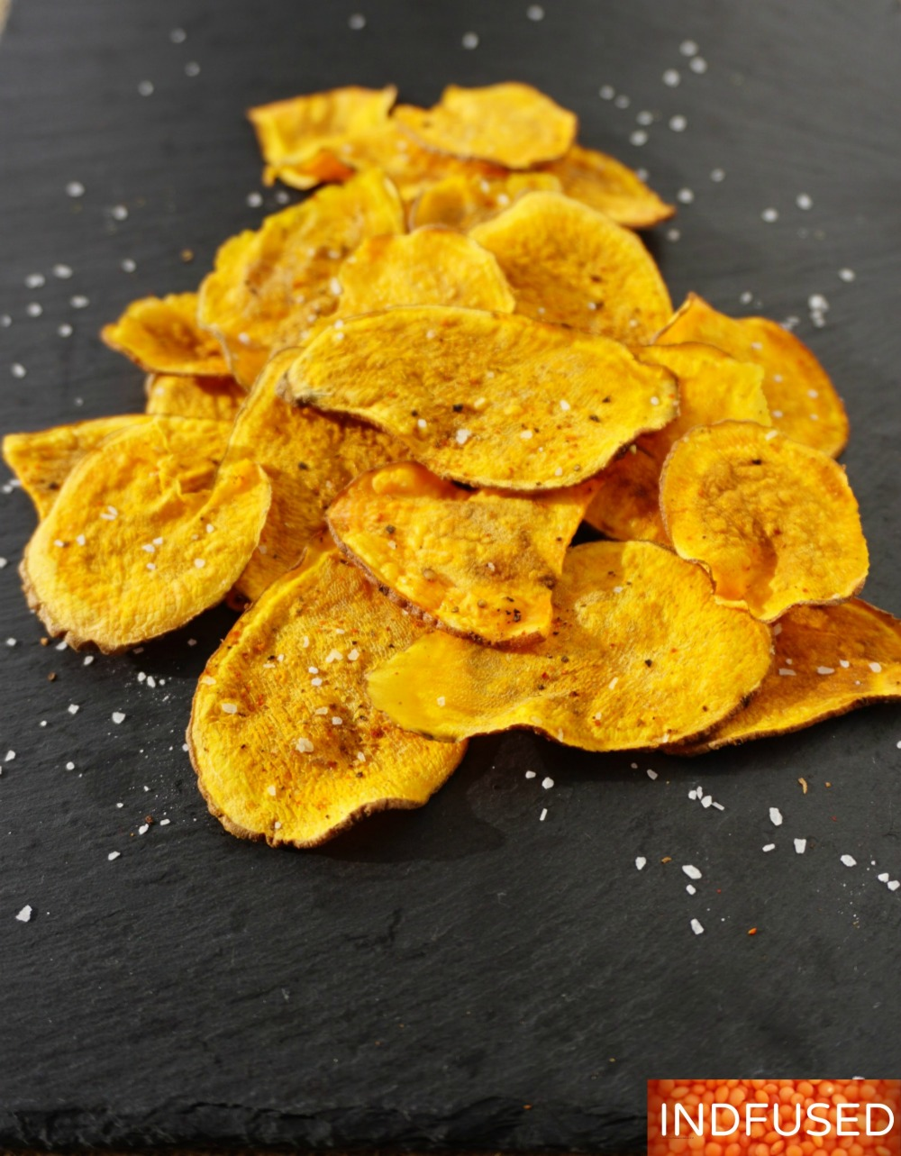 #sweet potato #chips #baked, #microwave #recipe #quickandeasy #figurefriendly, #kidfriendly #vegetarian, #vegan,#glutenfree #recipe