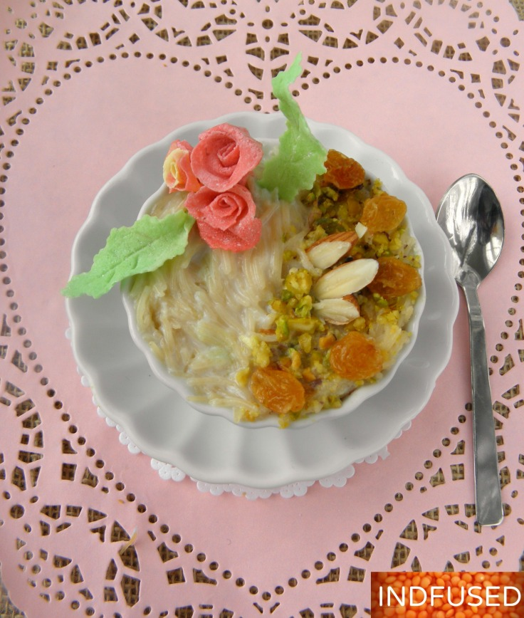 #Quick and #easy #candy #flowers to decorate #desserts for #Valentine's day #plus an #easy #recipe for #Indian #dessert ##vermicelli or #seviya #kheer #pudding
