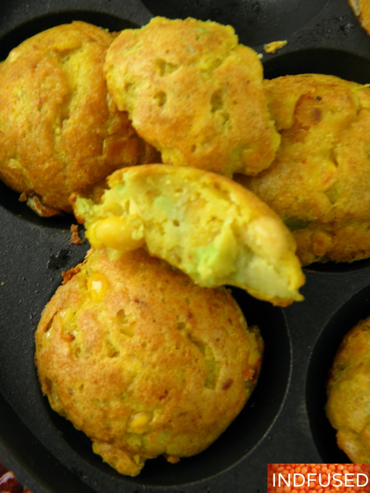Gluten free, protein rich, split pea fritters that are not fried! Figure friendly, healthy recipe with avocados,corn and olive oil.