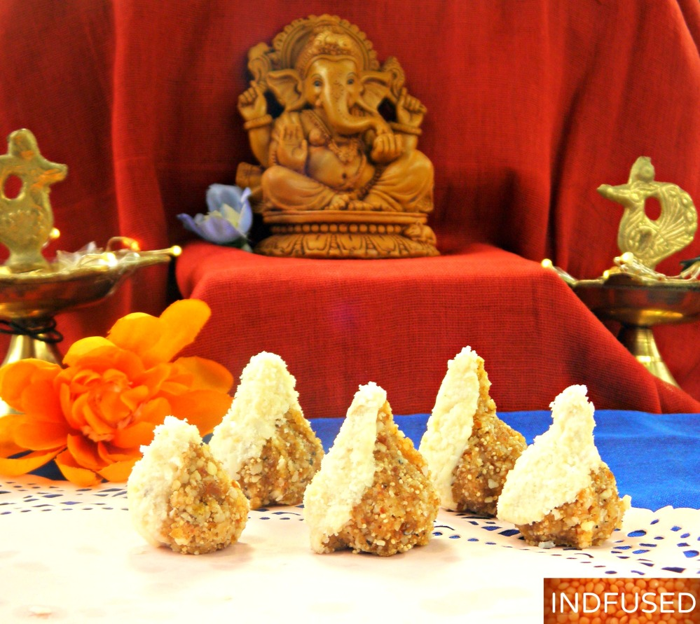 5 ingredient prasad with Ayurvedic benefits made for Ganesh Chaturthi,