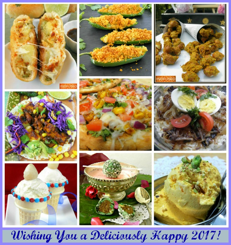 Indian and Indian fusion menu for New years party from my Indian kitchen in America!