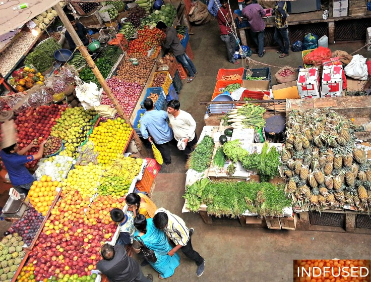 Vegetable, fruit and spice market, Panjim, Goa