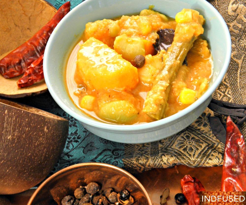 Khatkhate- vegetarian, vegan, gluten free Indian recipe for a delectable Vegetable Stew. pooja food