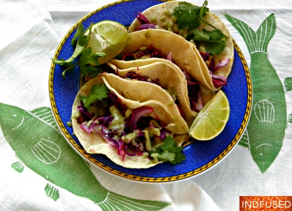 best Indian fusion recipe for fish tacos with avocado chutney sauce