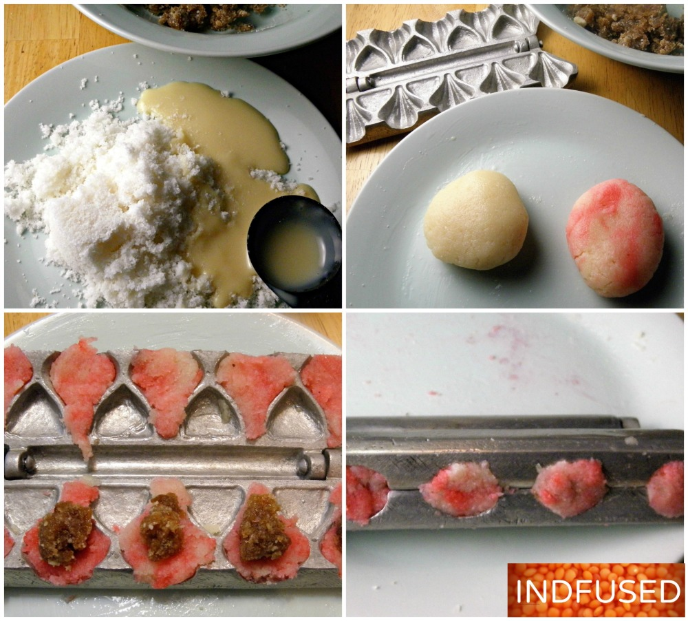 5 ingredient, easy Indian dessert #modak recipe with gulkand centers and rose scented coconut covers
