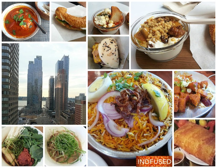 #Foodiecrawl around #NYC and in New Jersey show #Shakshuka for breakfast, #simit sandwiches and yogurt parfaits at #Chobani, ramen bowls, steamed bun, biryani, chili idli and dosa