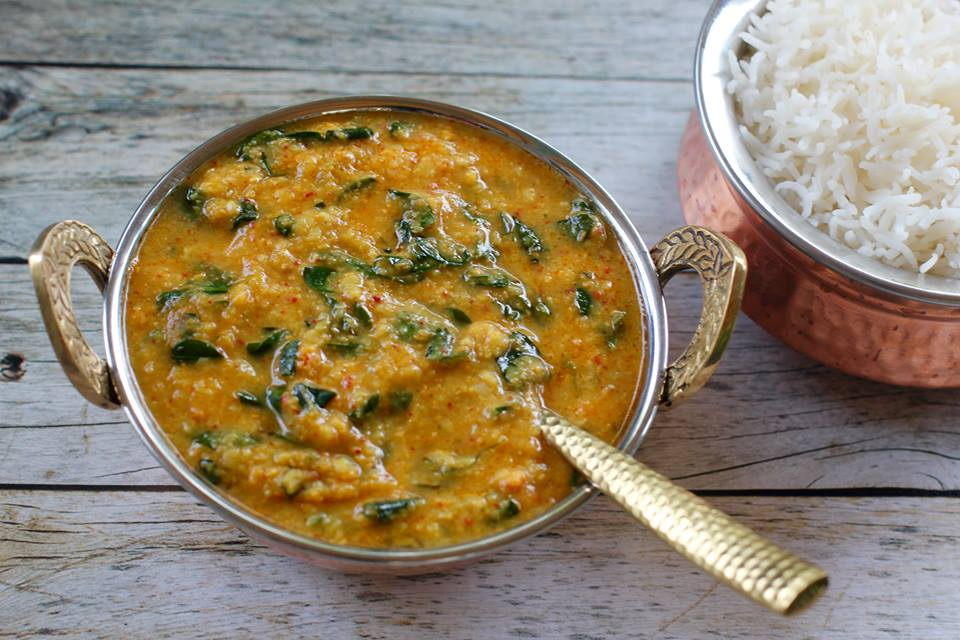 Archana's Lentils with Drumstick Leaves