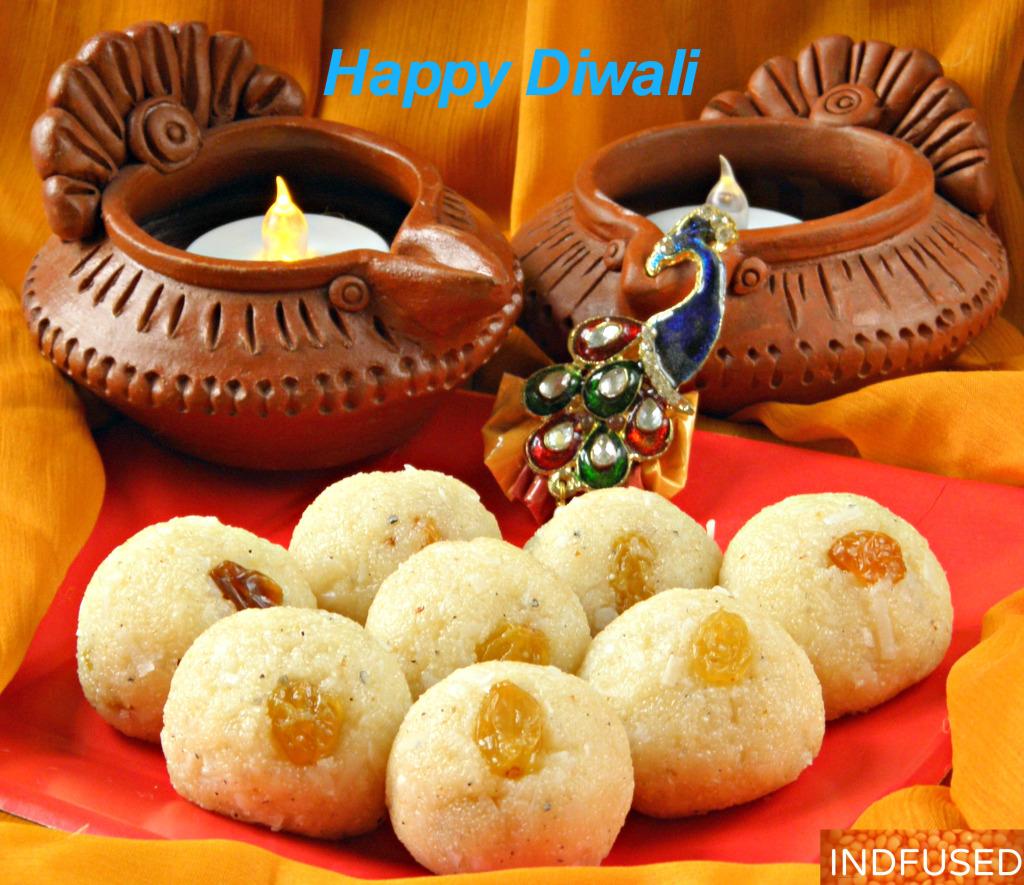 Indian #Diwalisweetsrecipe for Raghavdas ladu. Microwave recipe