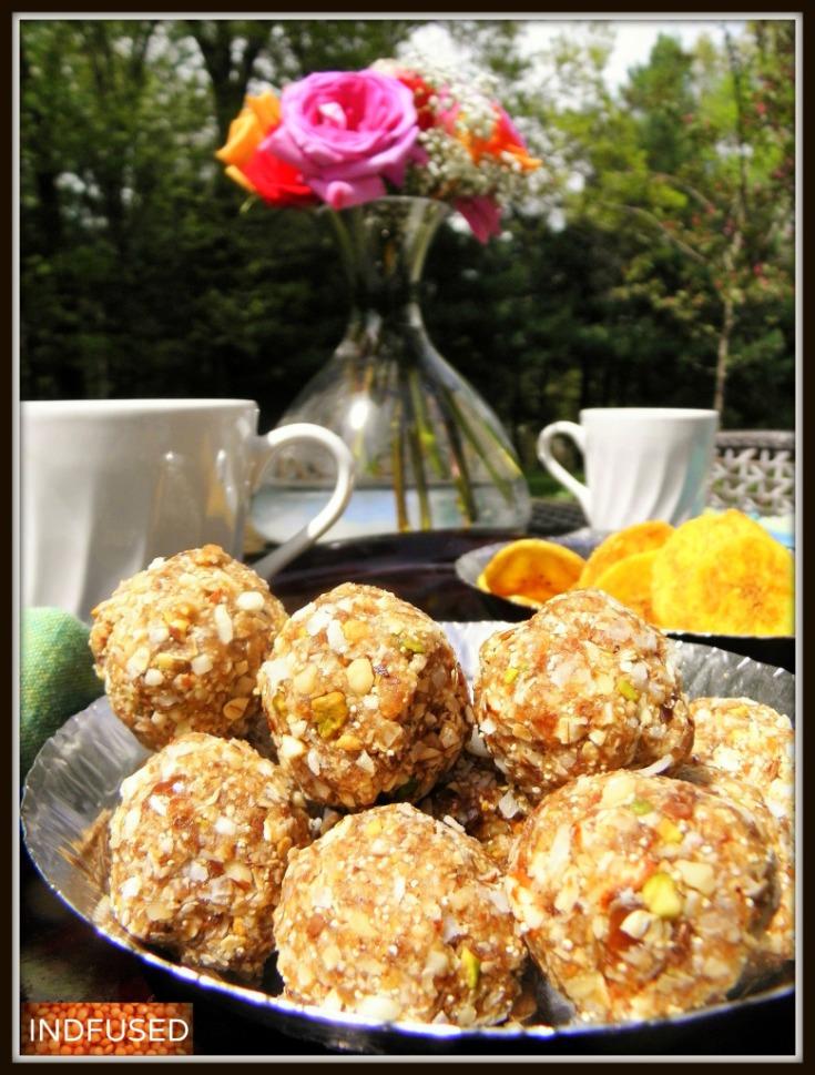 #Nutritiouslaadu with oats, dates, flax seeds, nuts and dinka