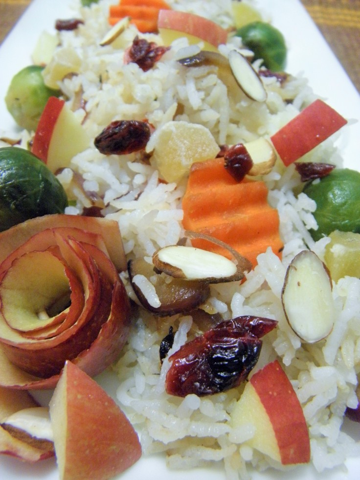 Basmati rice with vegetables and fruit is perfect for the holidays!