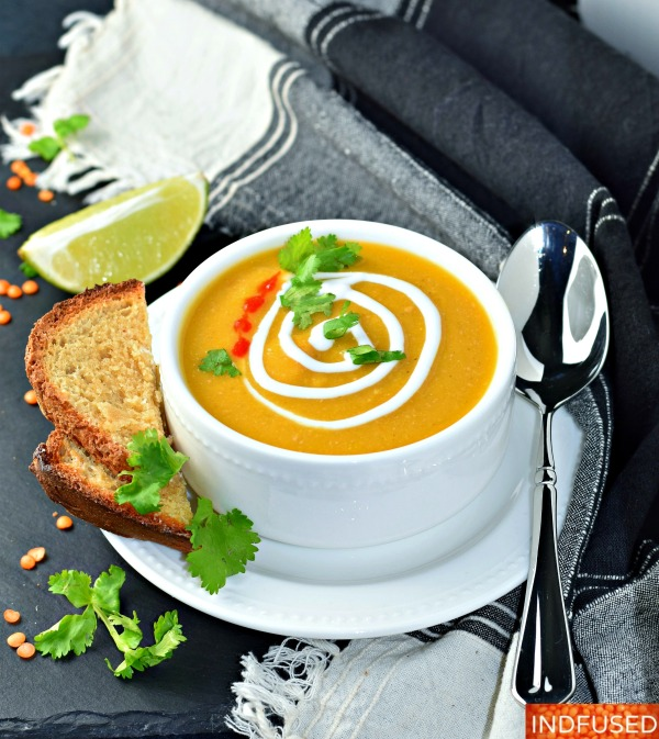 Butternut Peanut Butter Soup- vegetarian, vegan, gluten free, delectable, wholesome, hearty soup with red lentils and turmeric.