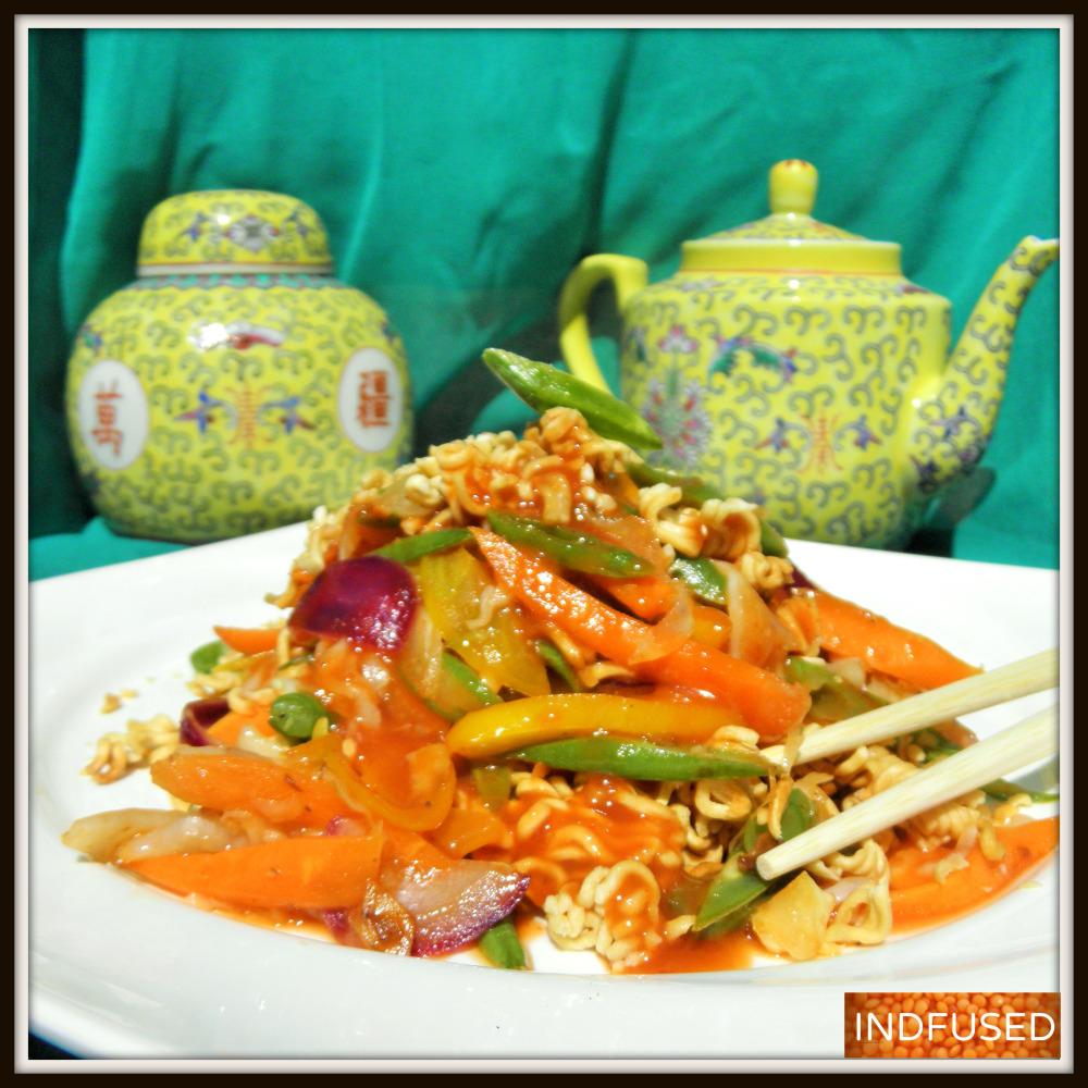Indo Chinese favorite- American Chop Suey . vegetarian, easy recipe