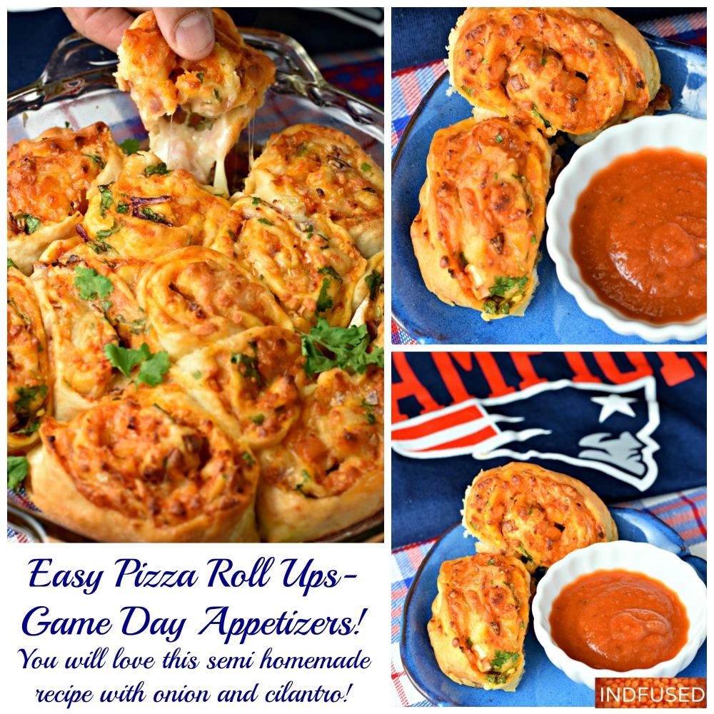 Easy recipe for pizza roll ups using #bettycrockerpizzacrust and #trdaerjoesmarinarasauce