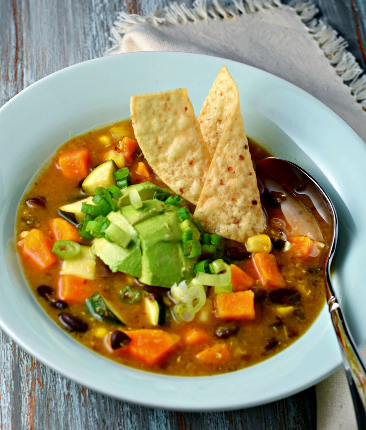 Vegetarian, vegan, gluten free, wholesome, filling and simply scrumptious soup, packed with Indian and Mexican flavors!