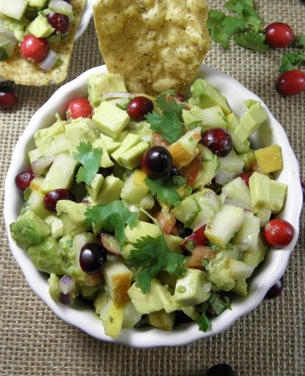 Avocado and fruit relish that is a party hit everytime