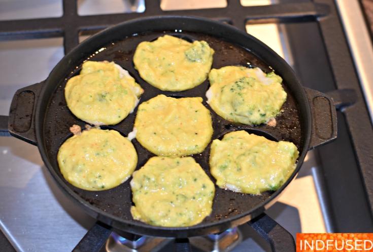 Broccoli and Cheese Mung Dal Vada- Step 1