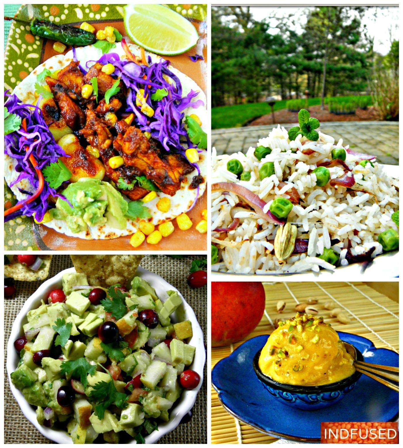 Easy #Spring dinners, #Indomexican cuisine, #veganicecream #avocadorelish #costcoavocados #glutenfreeicecream