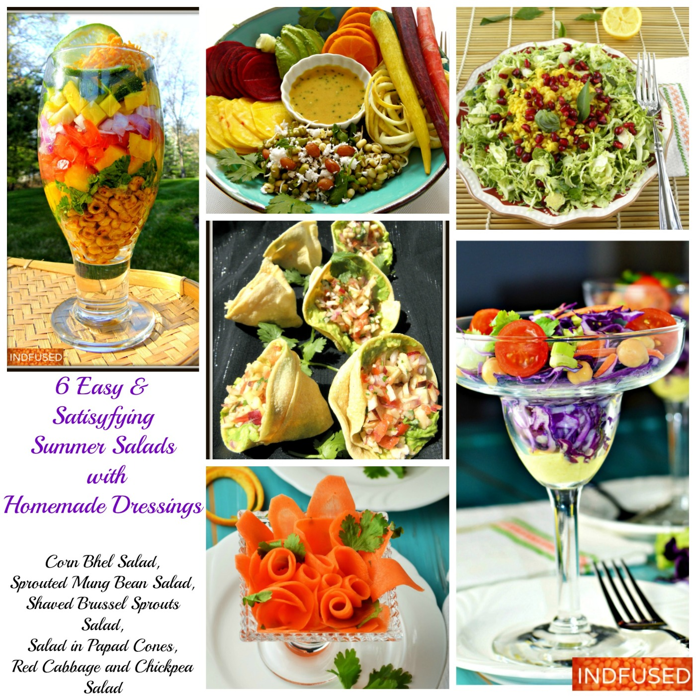 6 Easy & Satisfying Summer Salads with Homemade Dressing