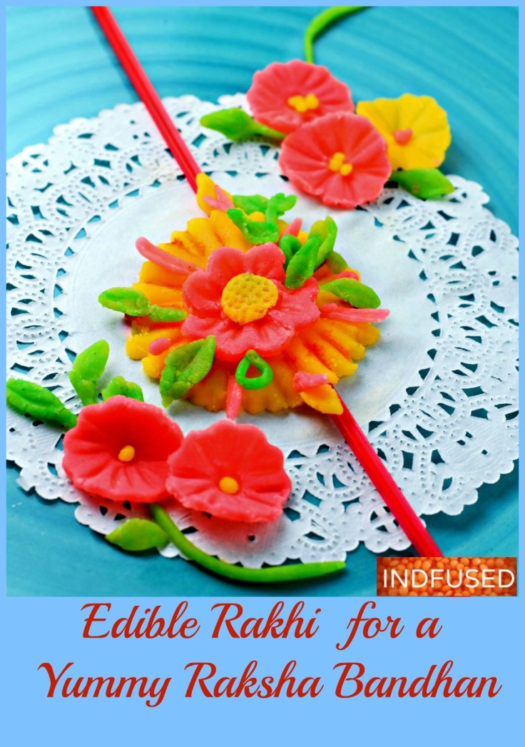 Edible Rakhi for a Yummy Raksha Bandhan- fun to make with kids with IKEA fondant and Witlon's Incing colors!