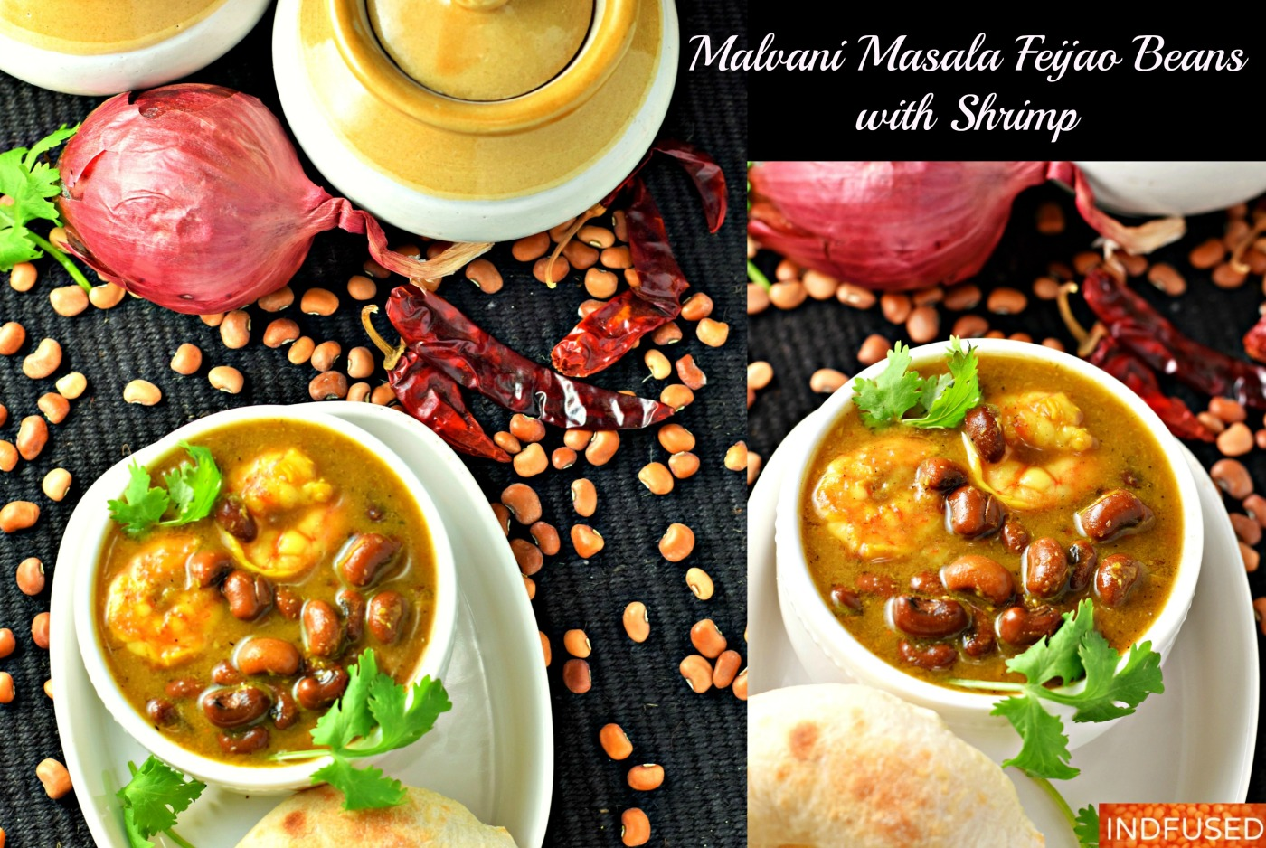 Authentic Indian heirloom recipe for Malvani masala and the feijao curry with shrimp. Serves 6. easy step by step recipe.